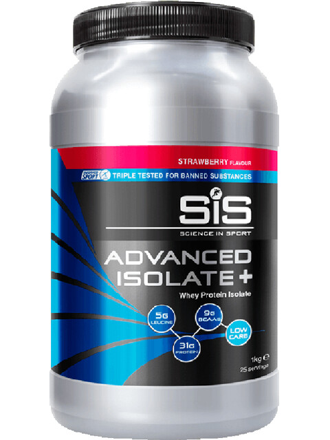 SiS Advanced Isolate Plus Whey Protein 1kg, Strawberry